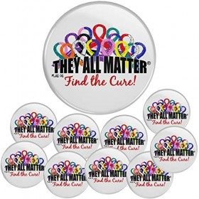 """""""They All Matter"""" Round Button - (10 Pack)"""