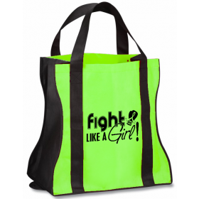 """Fight Like a Girl Signature"" Contempo Tote Bag - Lime Green"