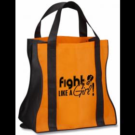 """""""Fight Like a Girl Signature"""" Contempo Tote Bag - Orange"""