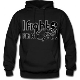 """Fight for My Girl Signature"" Unisex Hoodie - Black"