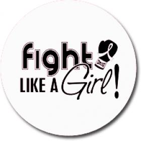 """Fight Like a Girl Signature"" Jar Opener - White"
