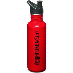 """""""Fight Like a Girl Hybrid"""" Stainless Steel Sports Bottle - Red"""