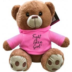 """""""Fight Like a Girl Script"""" Fight Pal Teddy Bear - Pink"""