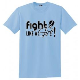 """Fight Like a Girl Signature"" Unisex T-Shirt - Light Blue"