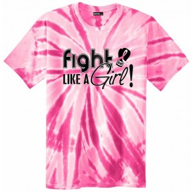 """Fight Like a Girl Signature"" Unisex T-Shirt - Pink Tie-Dye"