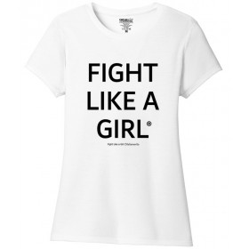 """""""Fight Like a Girl Statements"""" Ladies' T-Shirt - White Frost"""