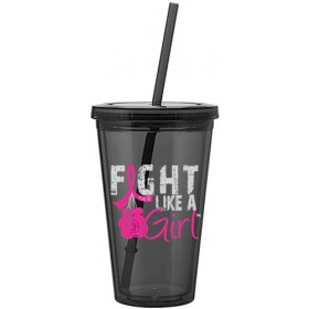 """Fight Like a Girl Knockout"" Acrylic Tumbler - Graphite"