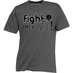 """Fight Like a Girl Signature"" Unisex T-Shirt - Grey"