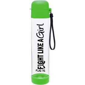 """Fight Like a Girl Hybrid"" SlimKim Water Bottle - Lime Green"
