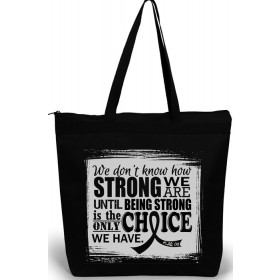 """How Strong We Are"" Darcey Tote Bag - Black"