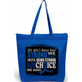 """How Strong We Are"" Darcey Tote Bag - Blue"