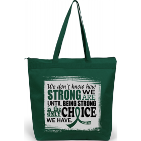 """""""How Strong We Are"""" Darcey Tote Bag - Emerald Green"""