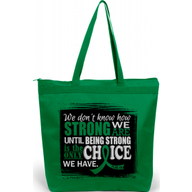 """How Strong We Are"" Darcey Tote Bag - Green"