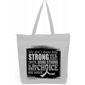 """""""How Strong We Are"""" Darcey Tote Bag - White"""