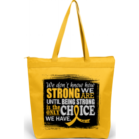 """How Strong We Are"" Darcey Tote Bag - Yellow"