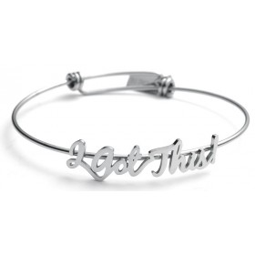 """I Got This!"" Stainless Steel Script Bracelet"