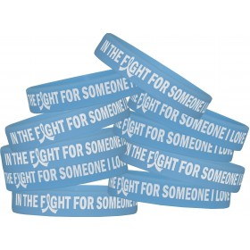 """In The Fight For Someone I Love"" Silicone Wristband - Light Blue (10 Pack)"