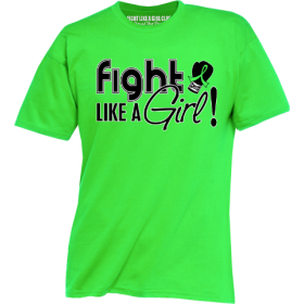 """Fight Like a Girl Signature"" Unisex T-Shirt - Lime Green"