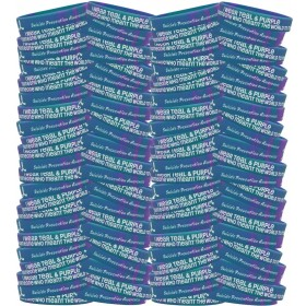 """""""Meant The World To Me"""" Suicide Awareness Silicone Wristband Bracelet - Teal & Purple Tie-Dye (100 Pack)"""