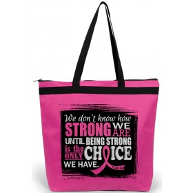 """""""How Strong We Are"""" Darcey Tote Bag - Hot Pink"""