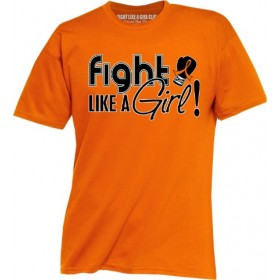 """Fight Like a Girl Signature"" Unisex T-Shirt - Orange"