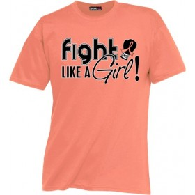 """Fight Like a Girl Signature"" Unisex T-Shirt - Peach"