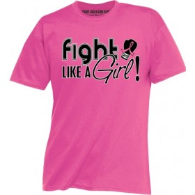"""Fight Like a Girl Signature"" Unisex T-Shirt - Pink"