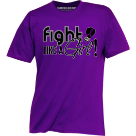 """Fight Like a Girl Signature"" Unisex T-Shirt - Purple"