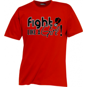 """Fight Like a Girl Signature"" Unisex T-Shirt - Red"