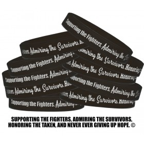"""""""Supporting Admiring Honoring"""" Silicone Wristband - Black (10 Pack)"""