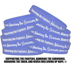 """""""Supporting Admiring Honoring"""" Silicone Wristband - Violet (10 Pack)"""
