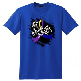 """Screw Cancer"" Unisex T-Shirt - Yellow, Blue, Purple"