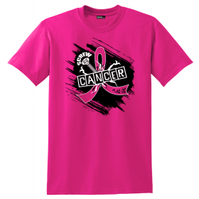 """Screw Cancer"" Unisex T-Shirt - Hot Pink"