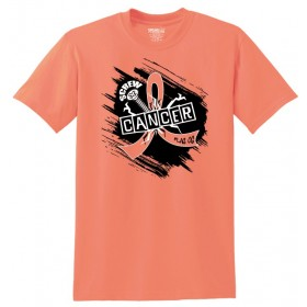 """Screw Cancer"" Unisex T-Shirt - Peach"
