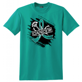 """Screw Cancer"" Unisex T-Shirt - Teal"