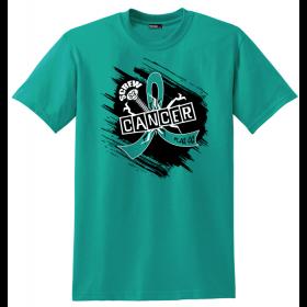 """Screw Cancer"" Unisex T-Shirt - Teal"