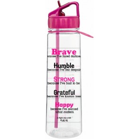 """Brave"" SlimKim II Water Bottle - Hot Pink"