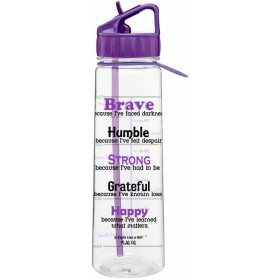 """Brave"" SlimKim II Water Bottle - Purple"