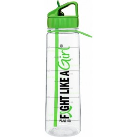 """Fight Like a Girl Hybrid"" SlimKim II Water Bottle - Lime Green"