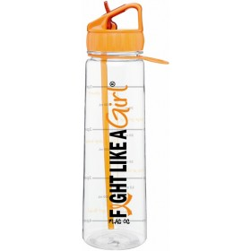 """Fight Like a Girl Hybrid"" SlimKim II Water Bottle - Orange"