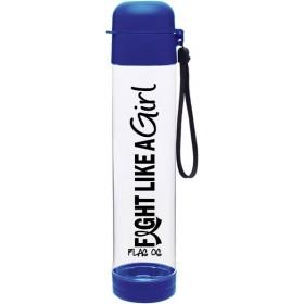 """""""Fight Like a Girl Hybrid"""" SlimKim Water Bottle - Blue"""