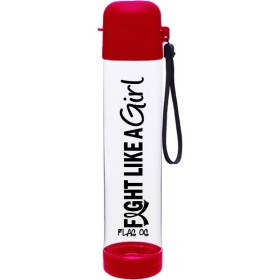 """Fight Like a Girl Hybrid"" SlimKim Water Bottle - Red"