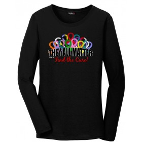 """They All Matter"" Ladies' Long-Sleeved V-Neck T-Shirt - Black"