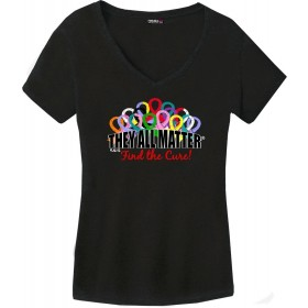 """They All Matter"" Ladies' Triblend V-Neck T-Shirt - Black"