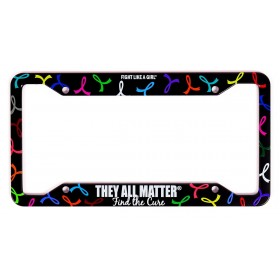 """They All Matter"" License Plate Frame - Black Aluminum"
