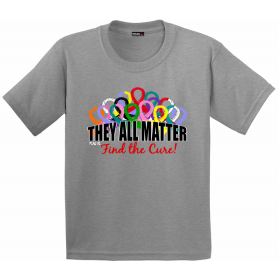 """""""They All Matter"""" Youth T-Shirt - Heather Grey"""