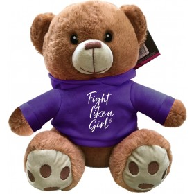 """Fight Like a Girl Script"" Fight Pal Teddy Bear - Purple"
