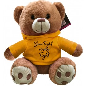 """""""Your Fight Is My Fight"""" Fight Pal Teddy Bear - Gold"""