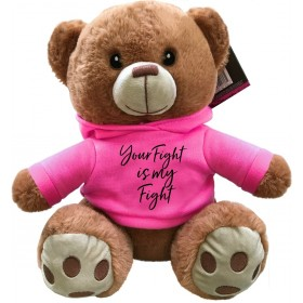"""Your Fight Is My Fight"" Fight Pal Teddy Bear - Pink"
