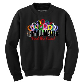 """They All Matter"" Unisex Sweatshirt - Black"